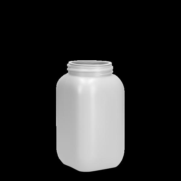 950 ml Chemikalienflaschen HDPE grau RD 70 eckig