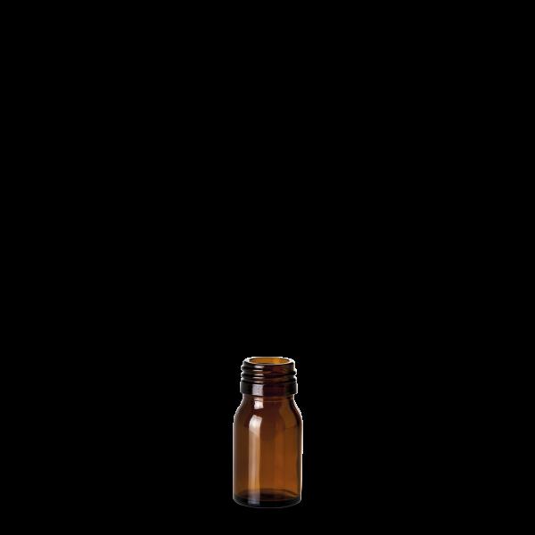 30 ml Medizinflasche Glas braun PP 28 rund