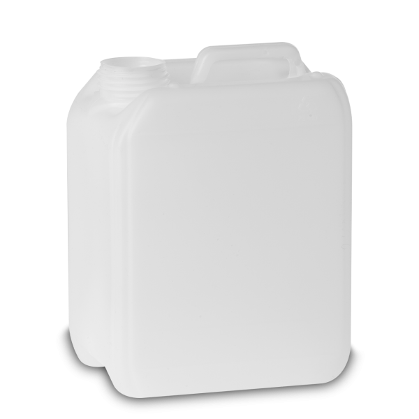 2 Liter Kunststoffkanister HDPE natur RD 45 rechteckig