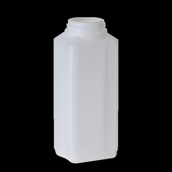 1000 ml Vierkantflaschen HDPE natur RD 60 rechteckig
