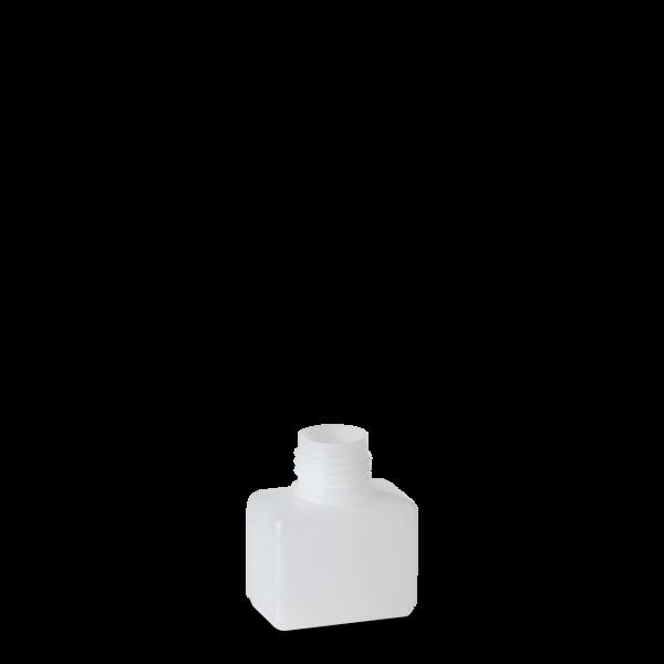 50 ml Vierkantflaschen HDPE natur RD 25 rechteckig