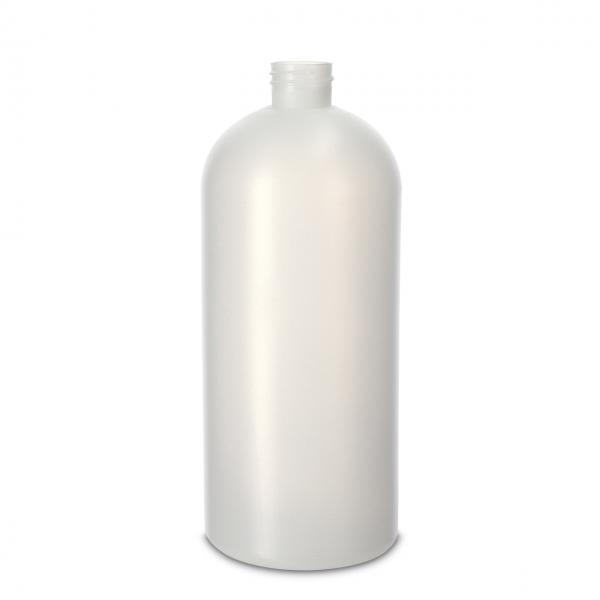 1000 ml Rundflaschen HDPE natur 28/410 Rundschulter