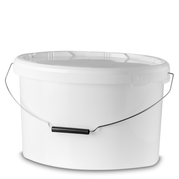 11 Liter Ovaleimer PP weiß oval