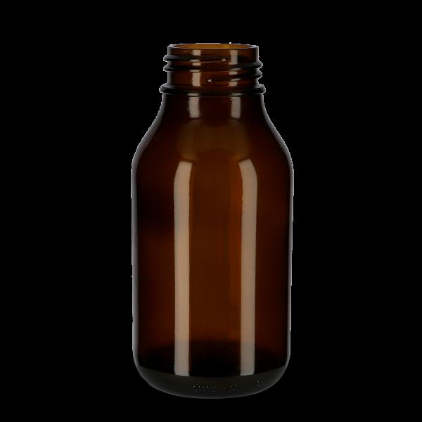1000 ml Weithalsflasche Glas braun OV 60 rund