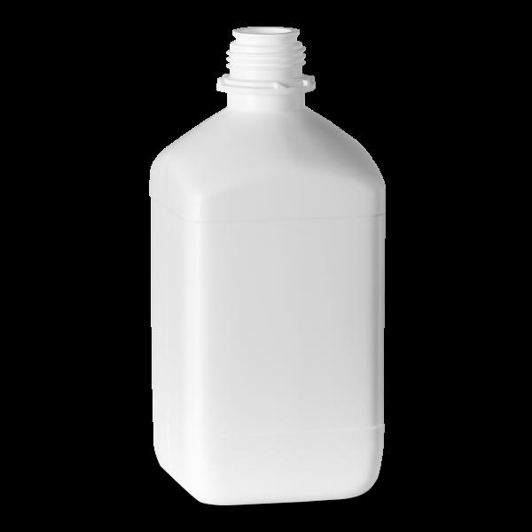 2500 ml Vierkantflaschen HDPE weiß OV 45 eckig