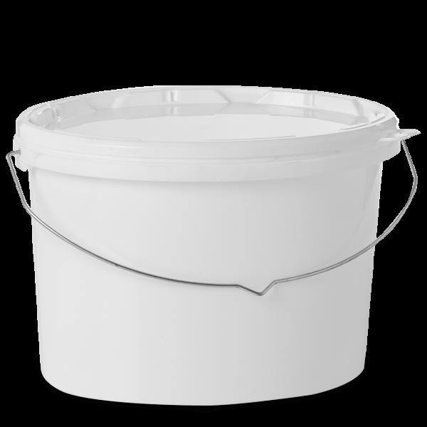 15 Liter Ovaleimer PP weiß oval