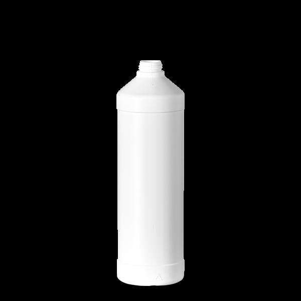 1000 ml Rundflaschen HDPE weiß RD 28 rund