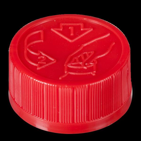 Verschlüsse für Kunststoffflaschen HDPE natur PP 28
