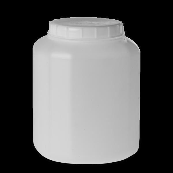 5 Liter Schraubdeckelfass HDPE natur RD 120 eckig