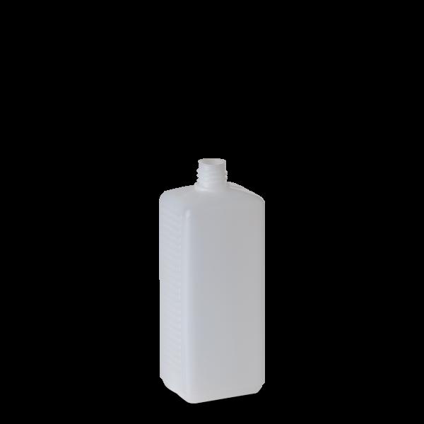 260 ml Vierkantflaschen HDPE natur RD 18 rechteckig