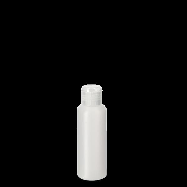 100ml Rundflasche - natur - incl. Klappscharnierverschluss