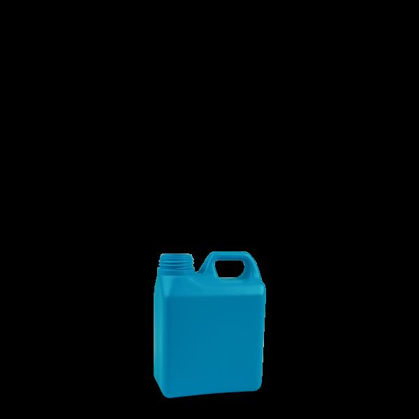 1 Liter Kanisterflasche - blau - RD 40 Gewinde