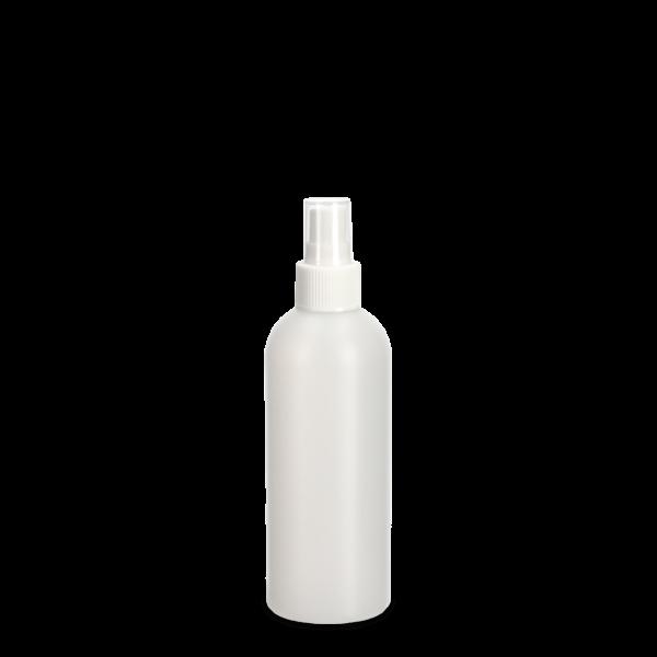 250ml Rundflasche - natur - incl. Fingerzerstäuber