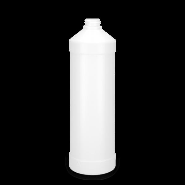 1000 ml Rundflaschen HDPE weiß RD 28 zylindrisch