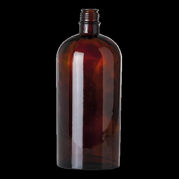 2500 ml Essenzenflaschen Glas braun Teller 40 rund