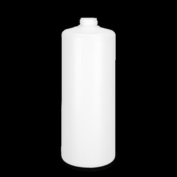 1000 ml Rundflaschen HDPE weiß ZP 28 zylindrisch