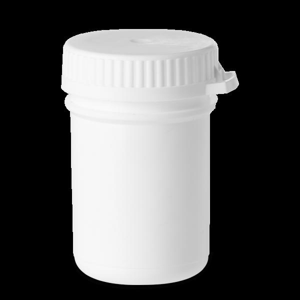 35 ml Stülpdeckeldosen PP weiß RD 35 rund