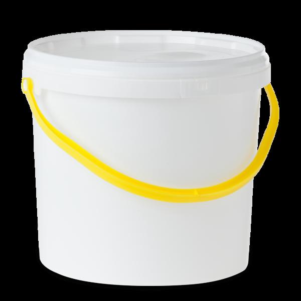 12.5 Liter Rundeimer PP weiß rund