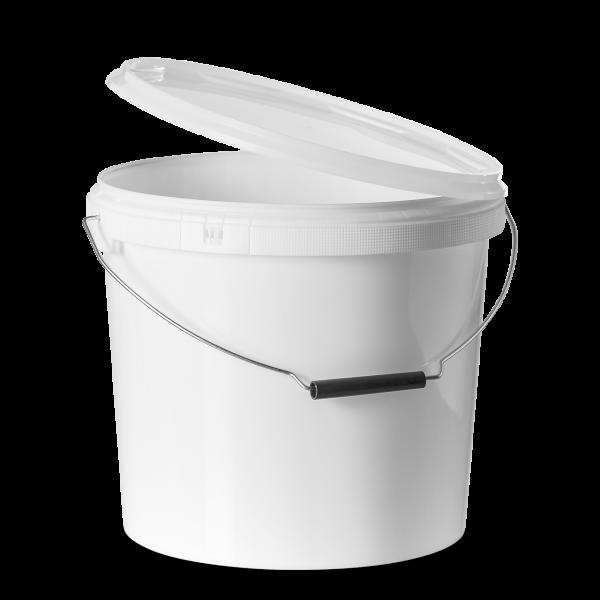 13 Liter Rundeimer PP weiß rund