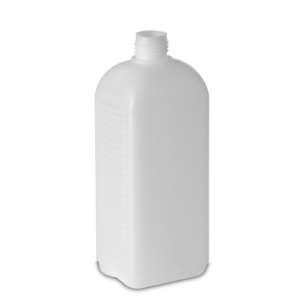 500 ml Vierkantflaschen HDPE natur RD 25 rechteckig