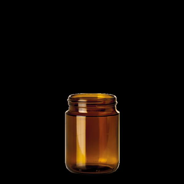 100 ml Weithalsgläser Glas braun GL 63 rund
