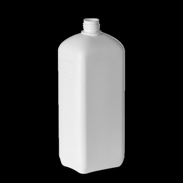 1000 ml Vierkantflaschen HDPE weiß RD 25 rechteckig