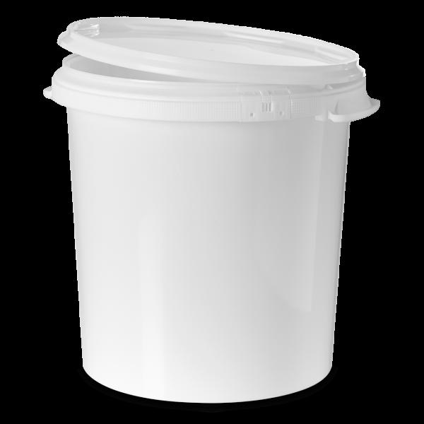 30 Liter Rundeimer PP weiß rund
