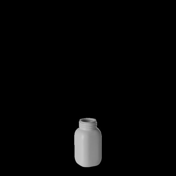 60 ml Chemikalienflaschen HDPE grau RD 28 eckig