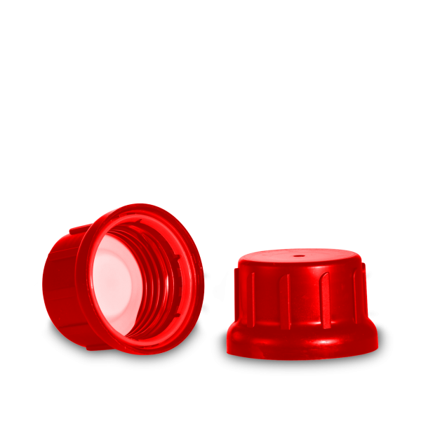 Verschlüsse für Kunststoffflaschen PP rot GL 45