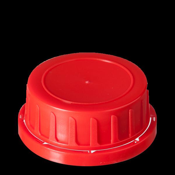 Verschlüsse für Kunststoffflaschen PP rot GL 54