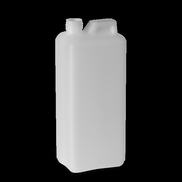 1000 ml Kanisterflaschen HDPE natur RD 25 rechteckig
