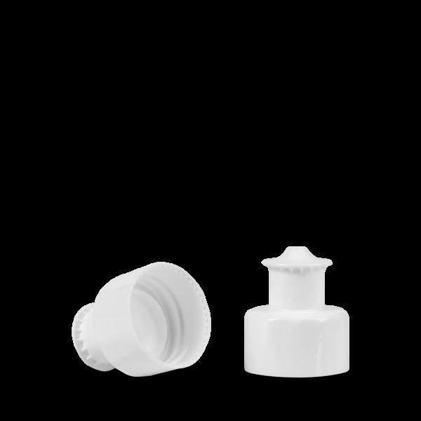 Push Pull Verschluss - weiß - Gewinde 28/410