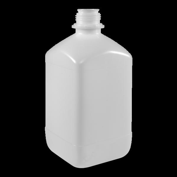 2500 ml Vierkantflaschen HDPE natur OV 45 eckig