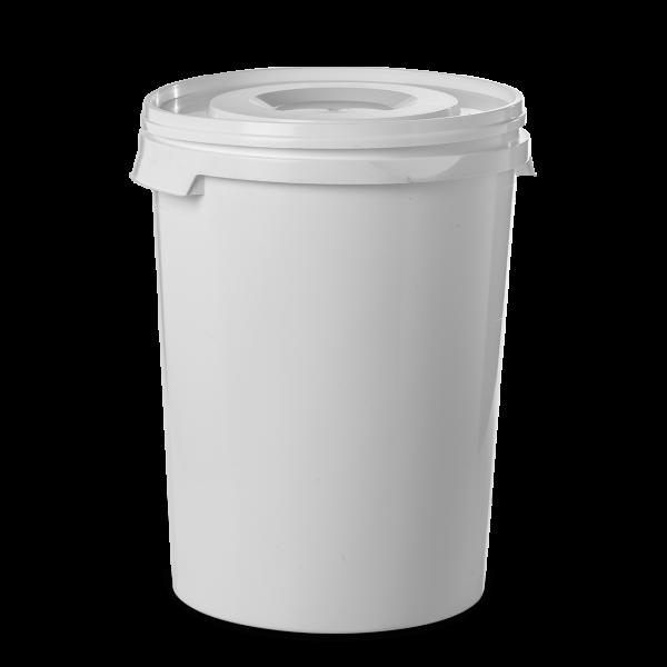 60 Liter Rundeimer PP weiß rund