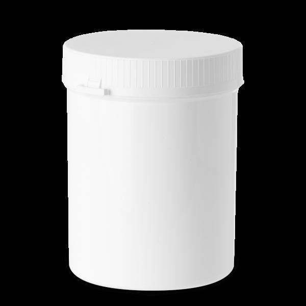 1250 ml Stülpdeckeldosen PP weiß RD 110 rund