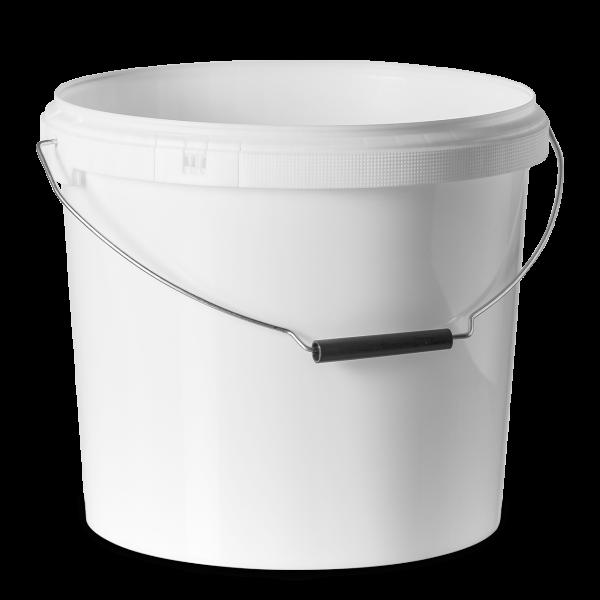 12 Liter Rundeimer PP weiß rund