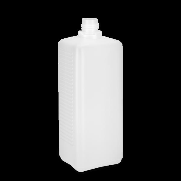 1100 ml Vierkantflaschen HDPE natur OV 28 rechteckig