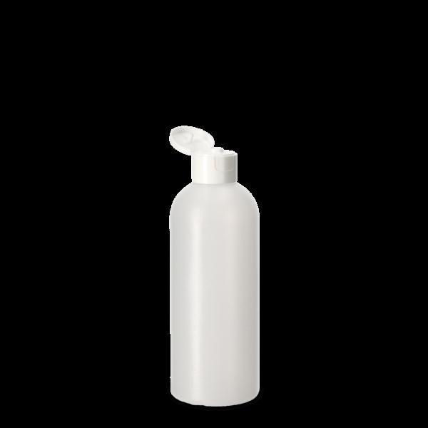 250ml Rundflasche - natur - incl. Klappscharnierverschluss